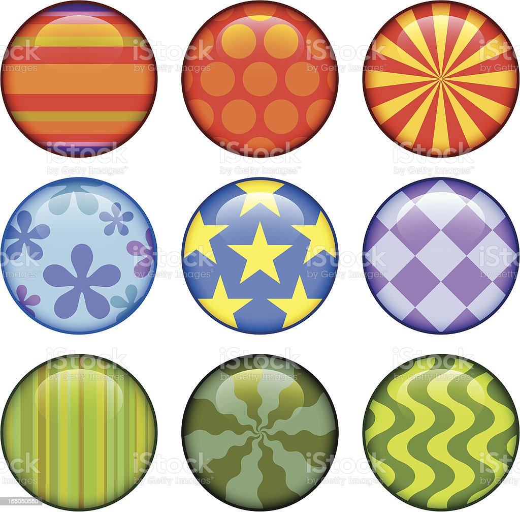pattern buttons royalty-free stock vector art