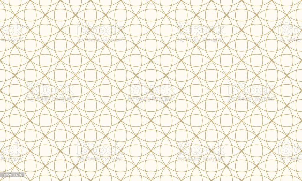 Ilustración de Modelo Círculo Antecedentes Oro Color Y Línea Vector ...