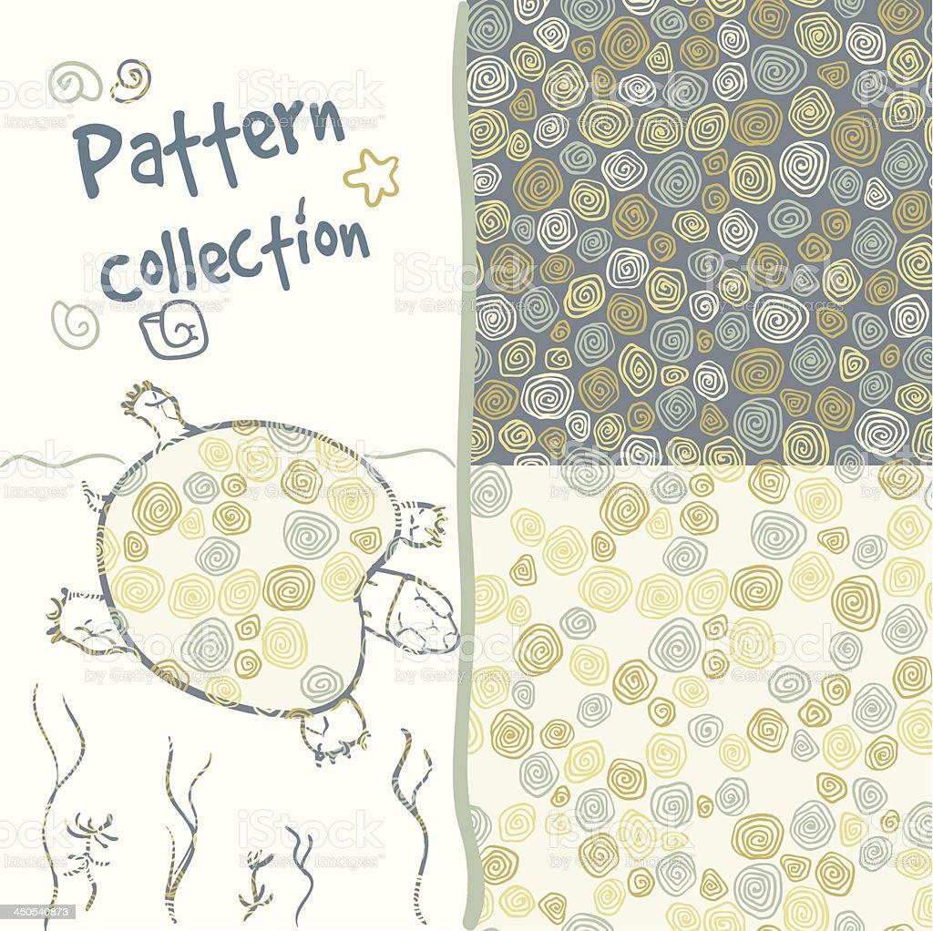 Pattern circles set, organic stylized vector art illustration