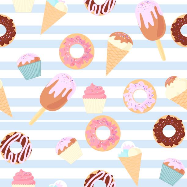pattern dessert vector art illustration