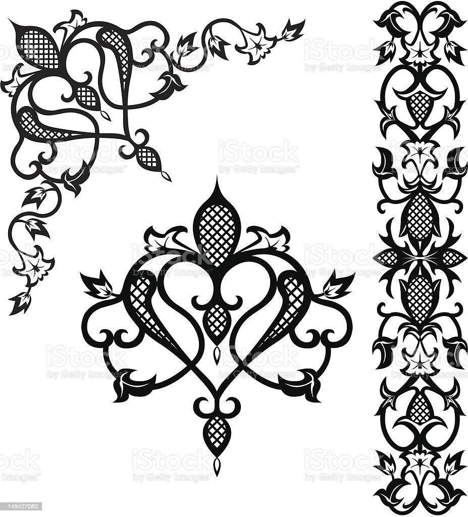 Pattern elements royalty-free stock vector art