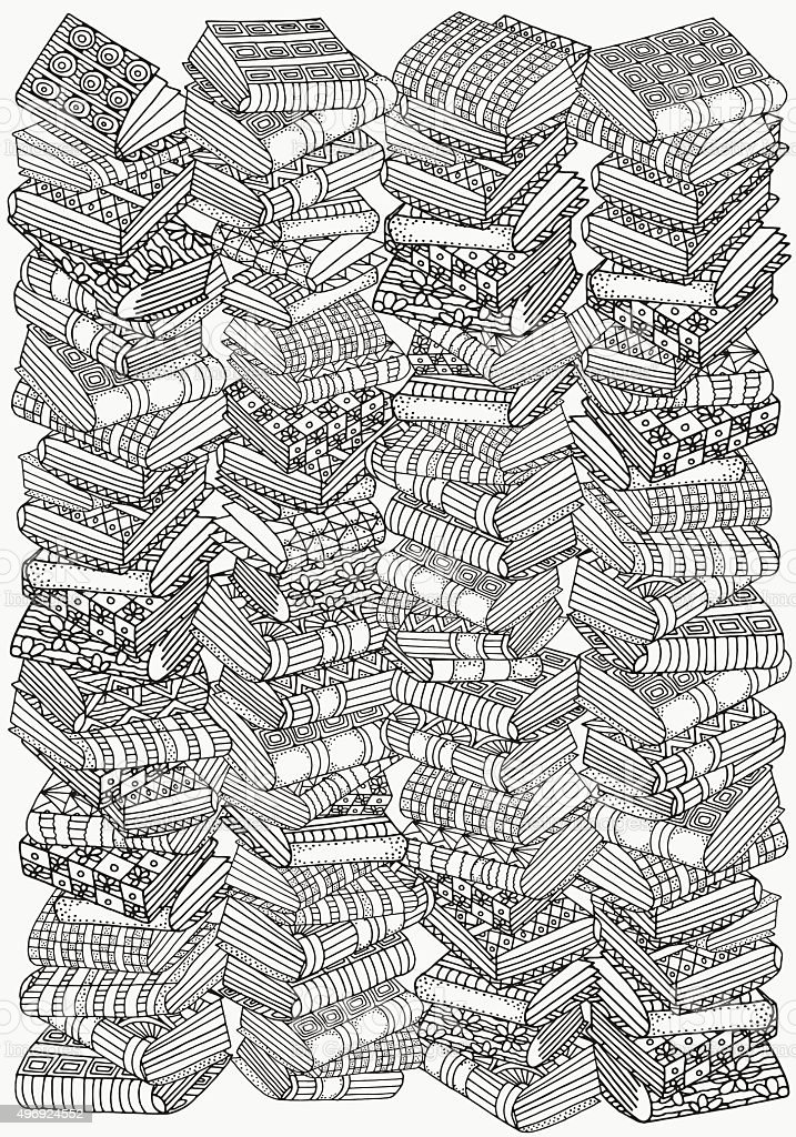 pattern for coloring book a4 size artistically books vector id