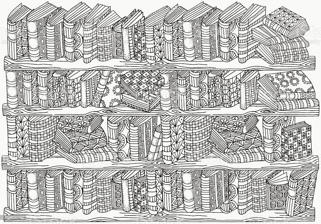 Ilustración de Patrón Para Colorear Libro De Tamaño A4 Libros De ...