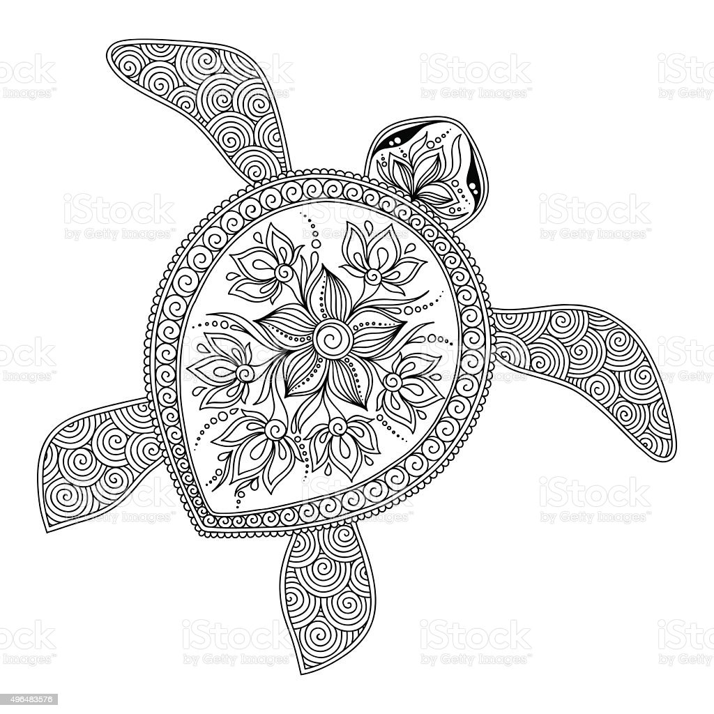 Pattern For Coloring Book Decorative