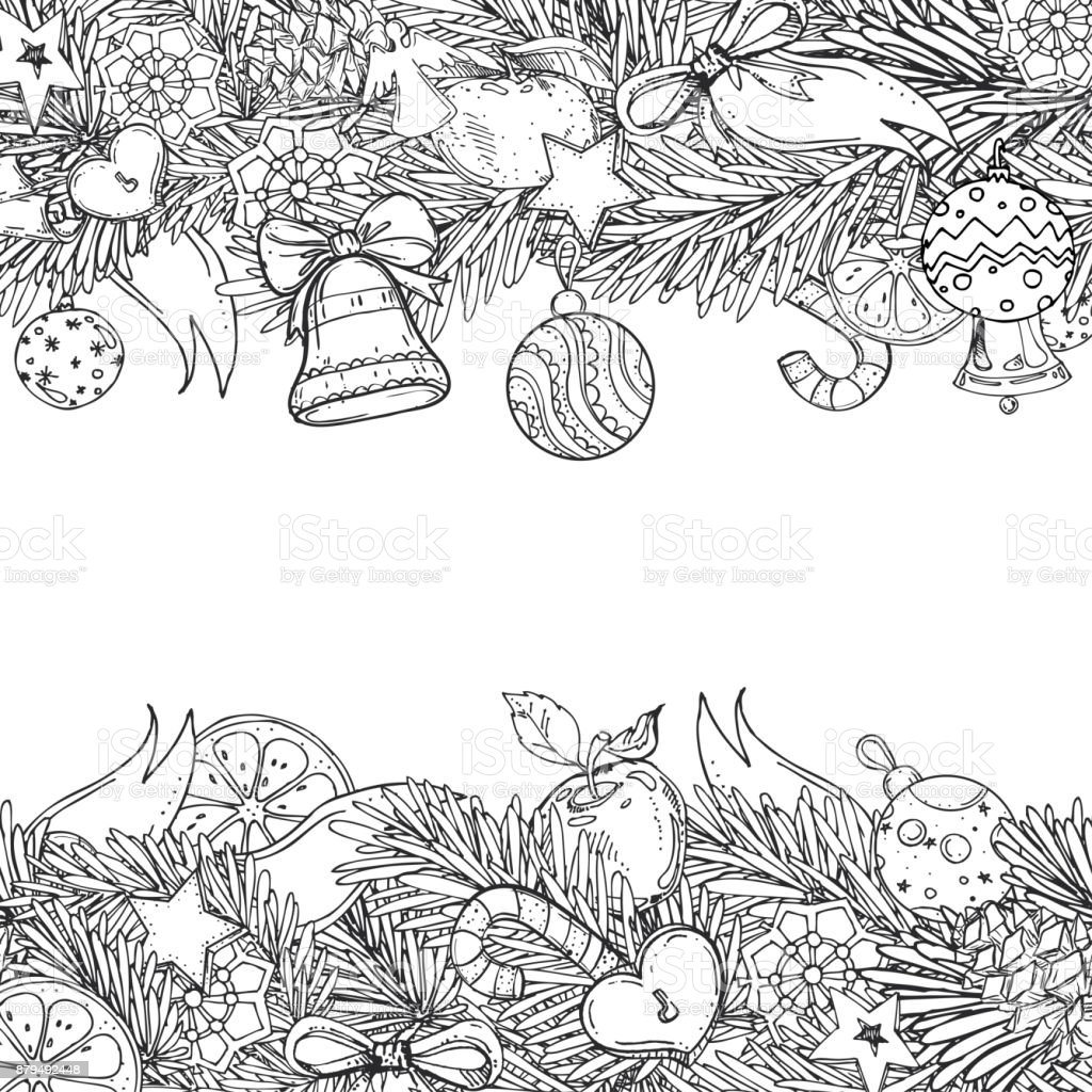 Kleurplaten Voor Volwassenen Kerstmis.Patroon Voor Een Boek Voor Volwassenen En Kinderen Kleurplaten