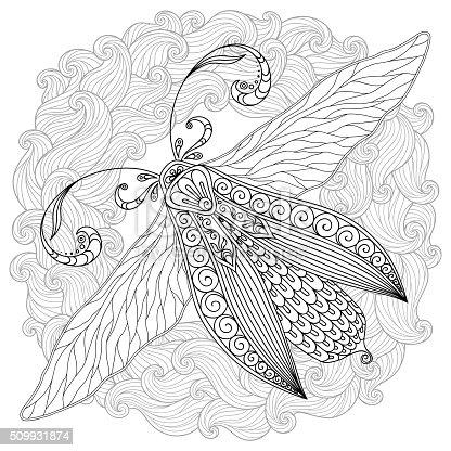 Ilustración de Patrón Para Colorear Libro Tatuaje De Henna Mehendi ...