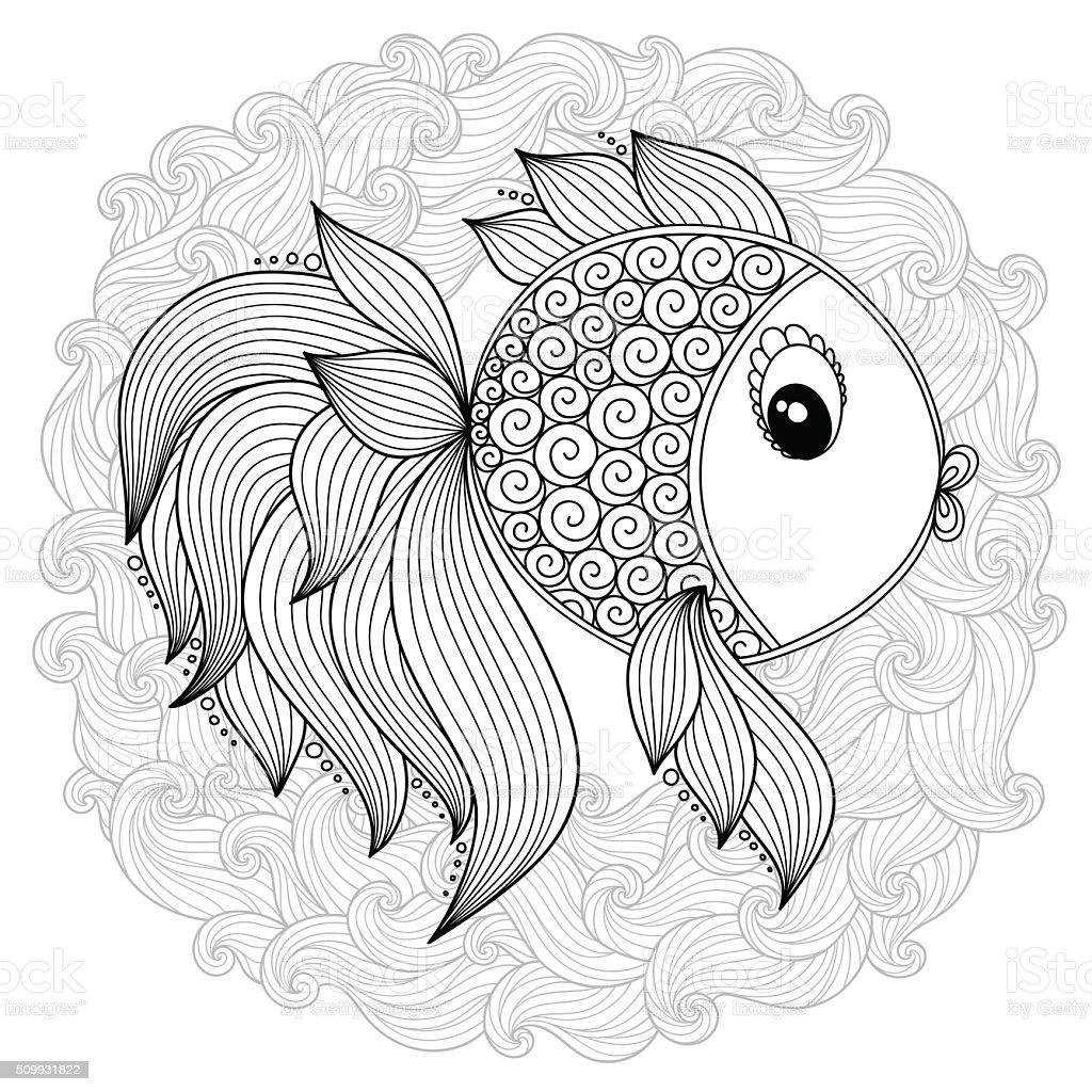 Ilustración de Patrón Para Colorear Libro Vector De De Dibujos ...