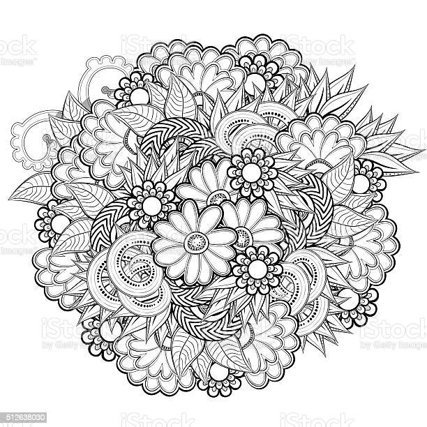 Pattern for coloring book with abstract flowers vector id512638030?b=1&k=6&m=512638030&s=612x612&h=uxzdr gdmie131aw3mgaea47gskvqpajcykbl7wjdwm=