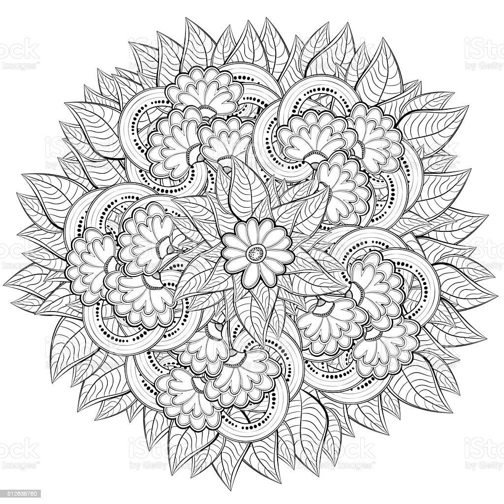 Ilustración de Patrón Abstracto Libro Para Colorear Con Flores y más ...