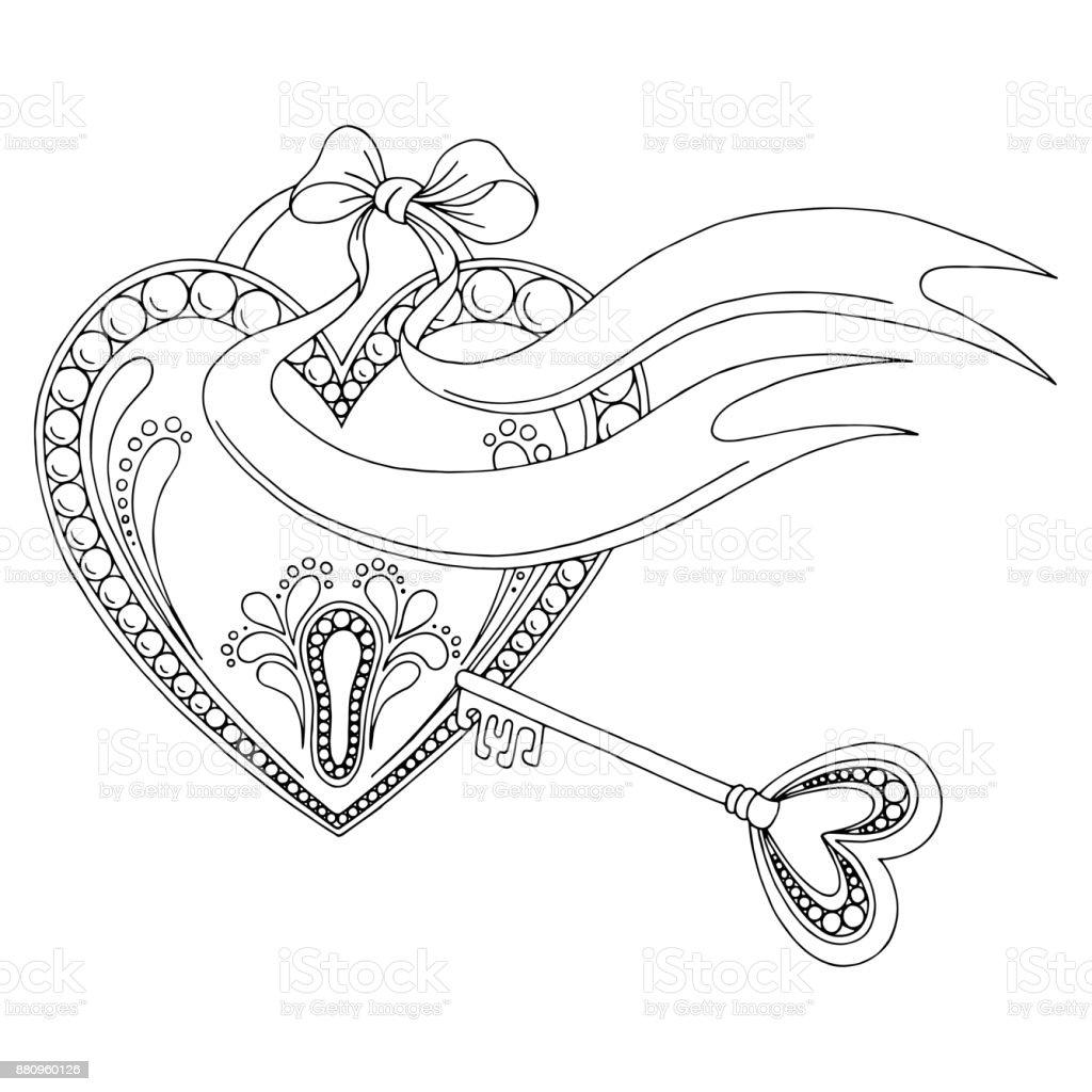 Key and lock drawings