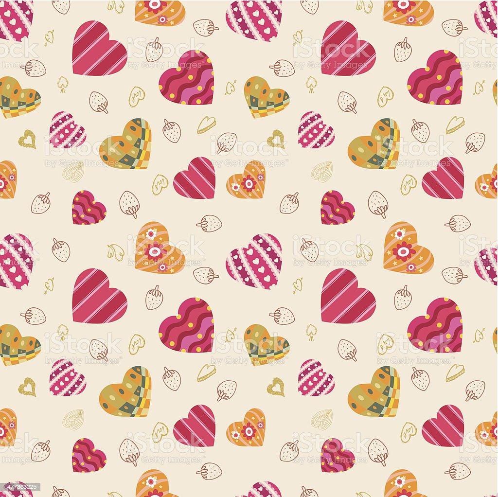 pattern heart seamless royalty-free stock vector art