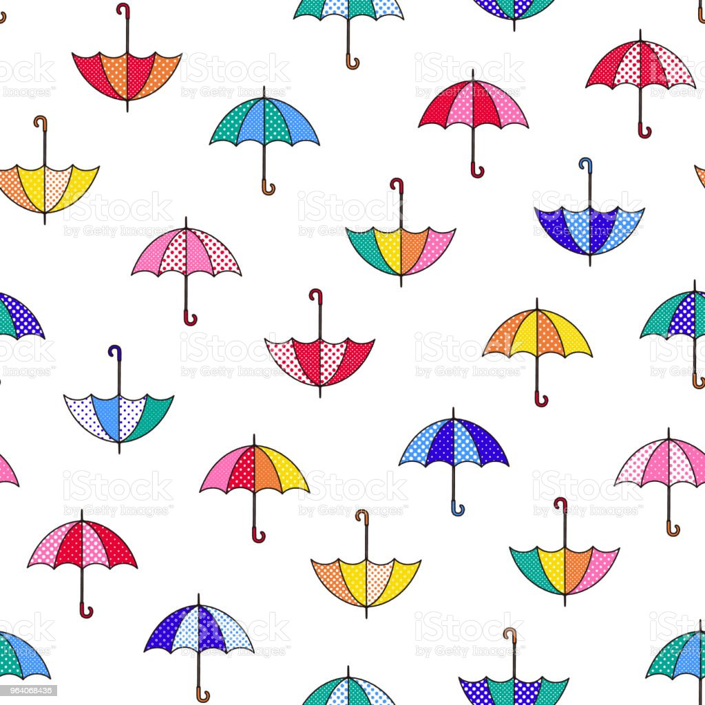 Pattern illustration of the umbrella, - Royalty-free Backgrounds stock vector