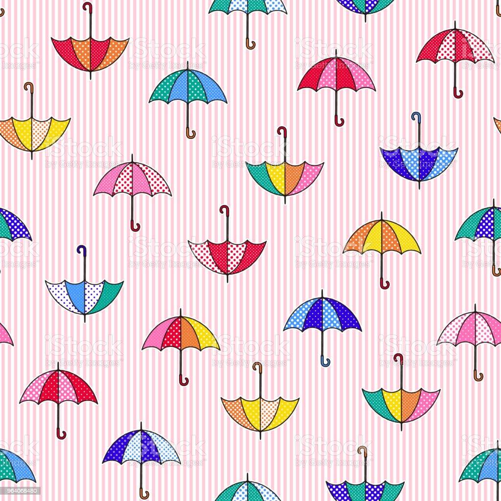 傘のパターン図 - イラストレーションのロイヤリティフリーベクトルアート