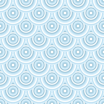 Pattern like fish scales - vector abstract seamless texture background.