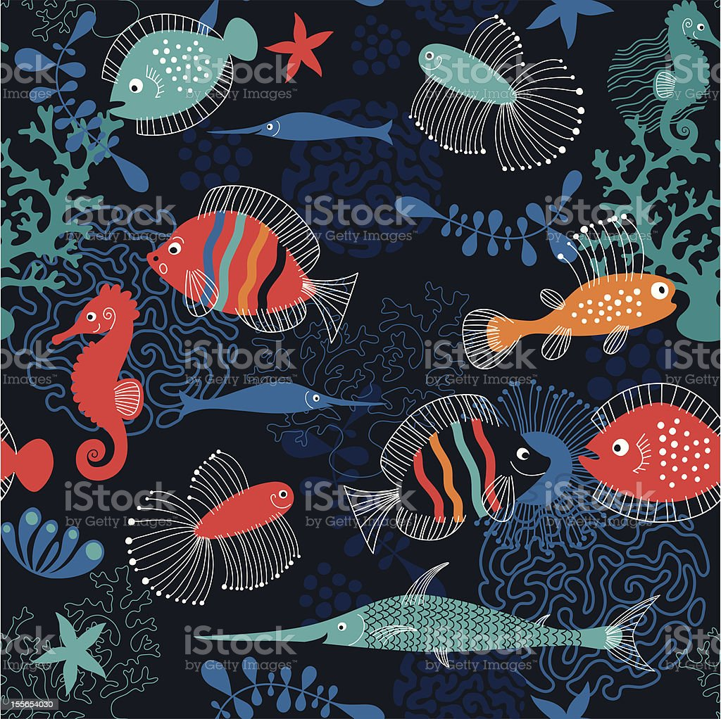 pattern marine life royalty-free stock vector art