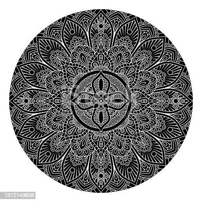 istock Pattern Motif Mandala Art Ornament Design Element 1312149608