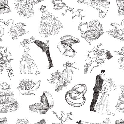 pattern of a wedding symbols