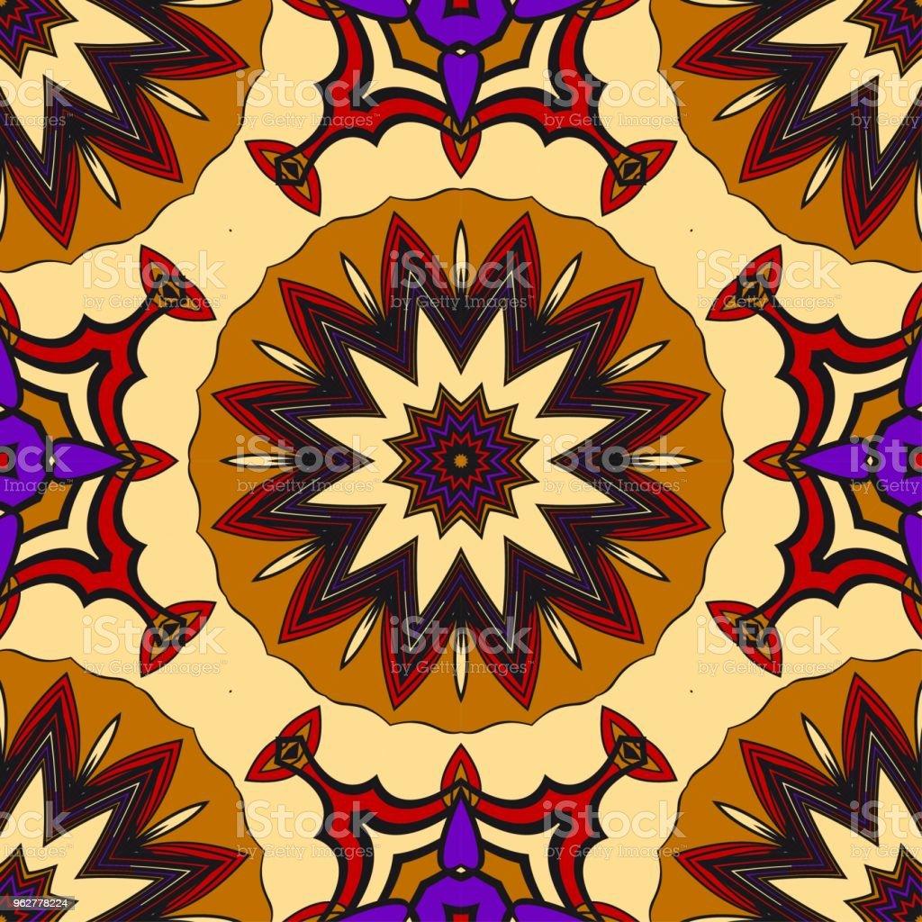 Padrão de flores geométricas abstratas. Ilustração em vetor sem emenda. para projeto de cartões, fundos, papel de parede, design de interiores. - Vetor de Abstrato royalty-free