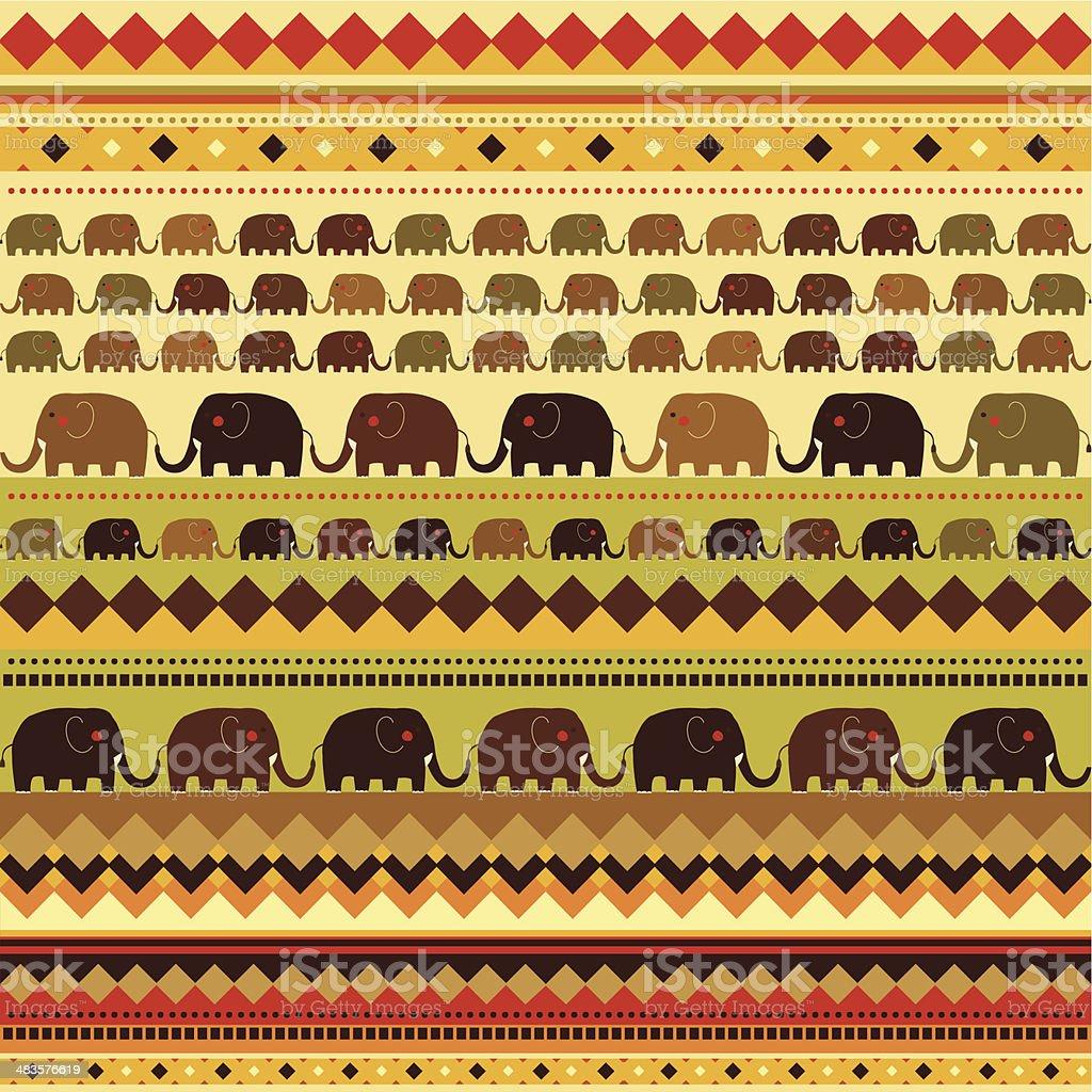 Muster Der Afrikanischen Elefanten Vektor Illustration 483576619 ...