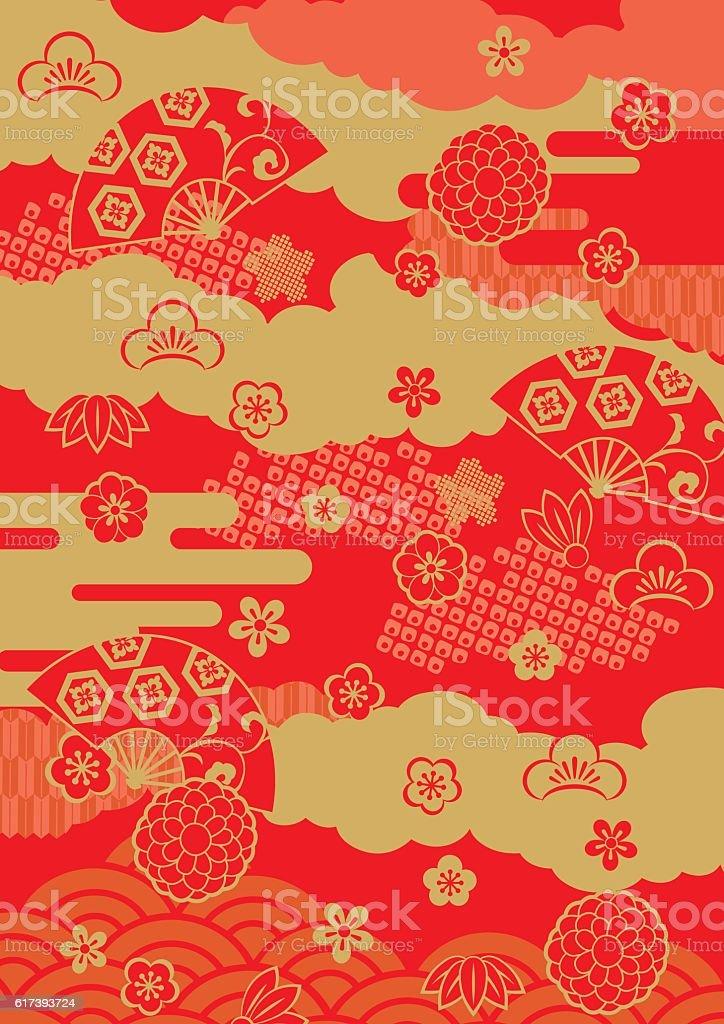 Pattern of beautiful Japanese vector art illustration