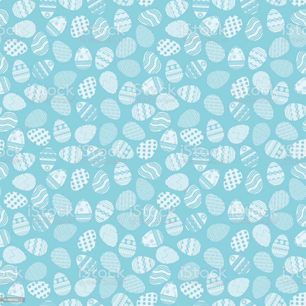 Plan des oeufs de Pâques bleus - Illustration vectorielle