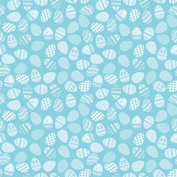 Patrón azul huevos de Pascua - ilustración de arte vectorial