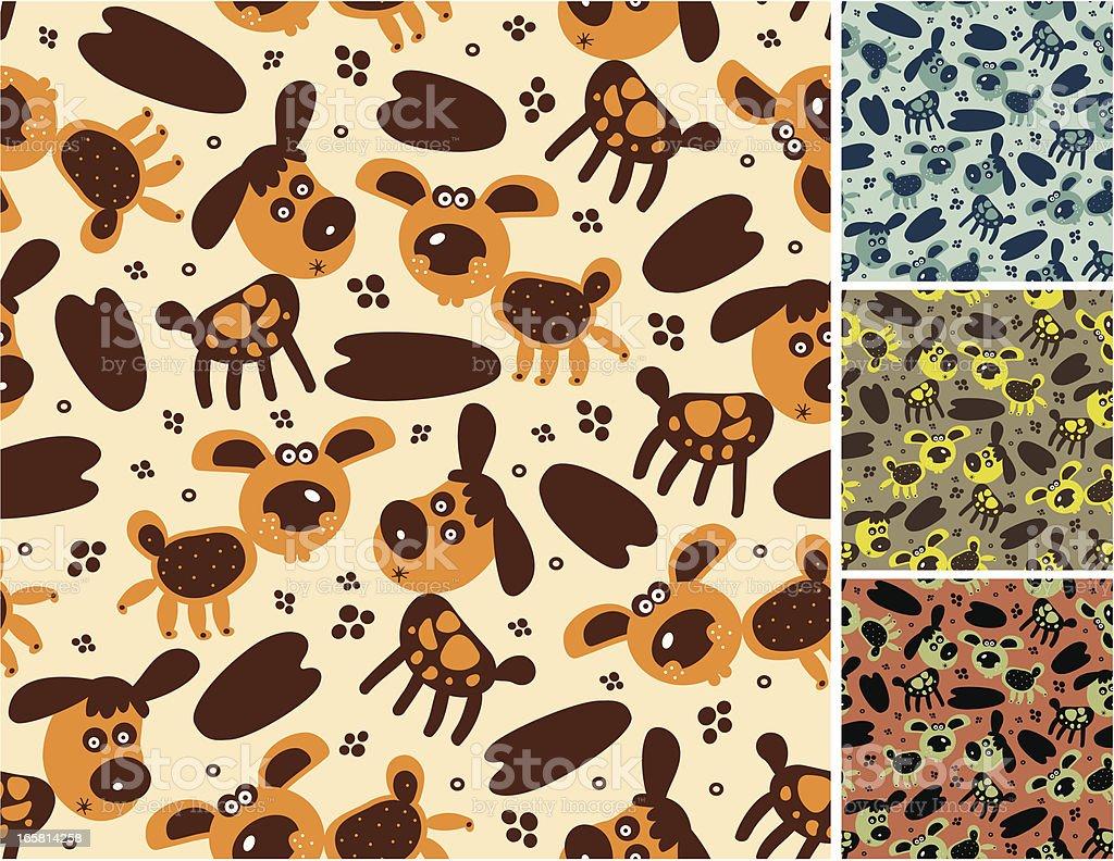 Pattern of cartoon dogs royalty-free stock vector art