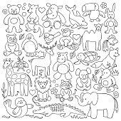 Pattern of children animal toys