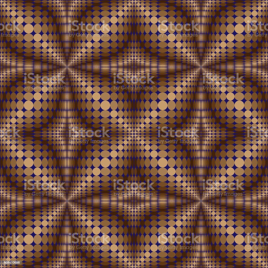 Pattern of circles and ovals 2. vector art illustration
