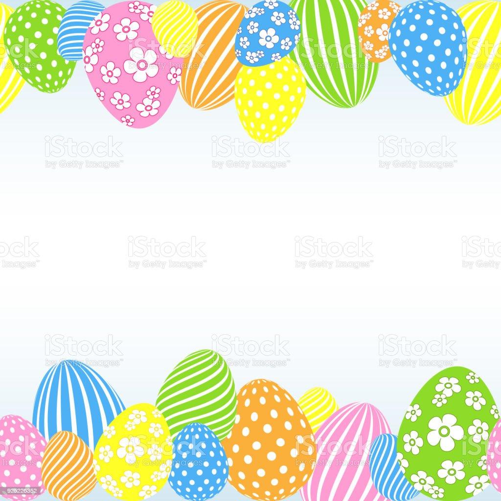 Ilustración de Patrón De Colores Pascua Huevos Sobre Un Fondo Claro ...