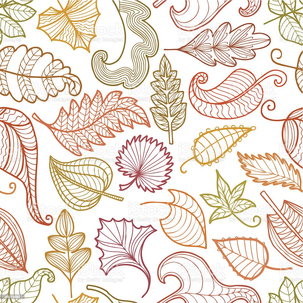 pattern of decorative leaves royalty-free stock vector art