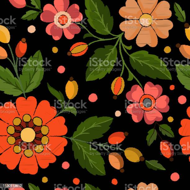 Pattern of embroidered flowers rose hips on a black background vector vector id1130113612?b=1&k=6&m=1130113612&s=612x612&h=prutli4pg1bwsytpgy fvqz806vx4uti7vnz9vsfdys=