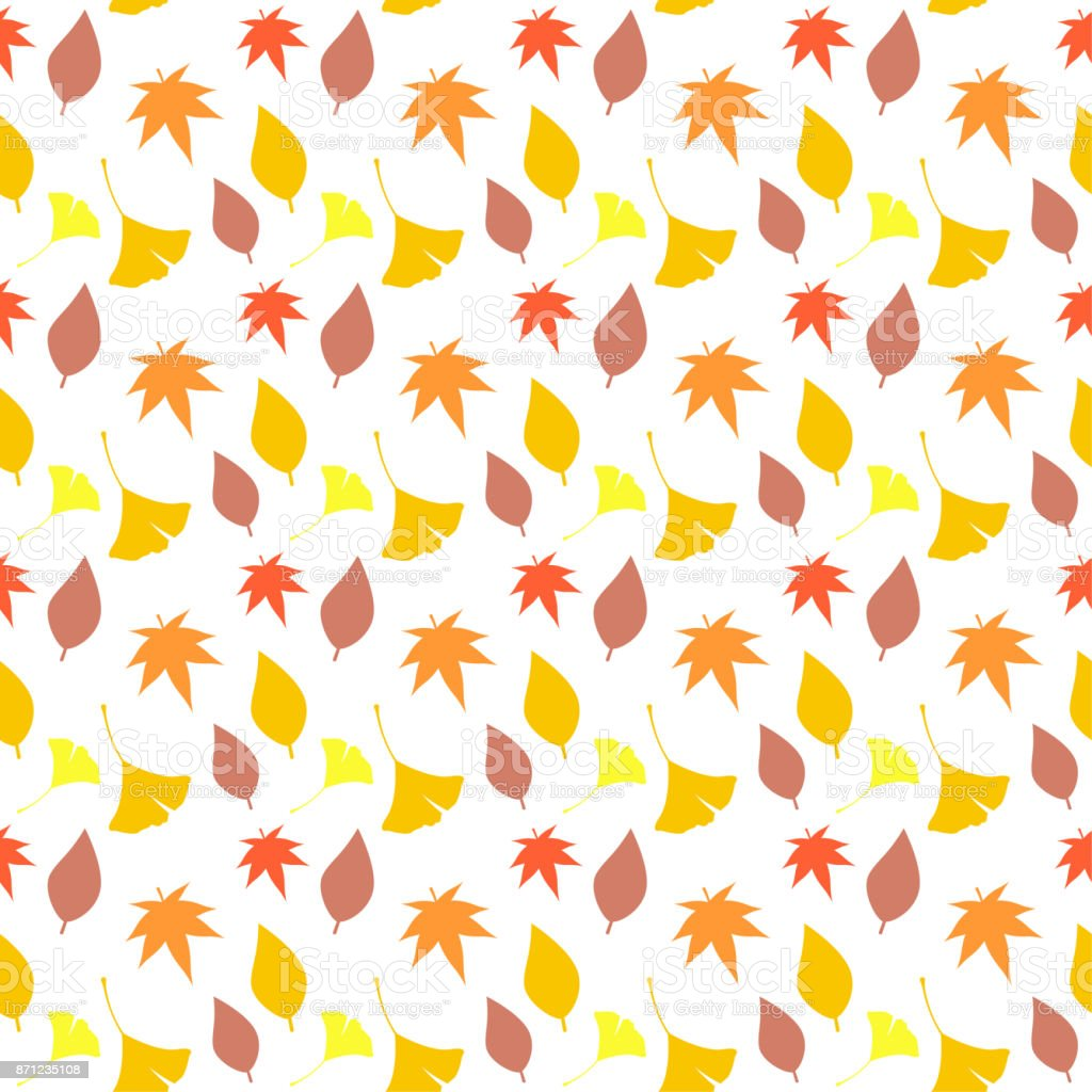 Pattern of Fallen Leaves vector art illustration