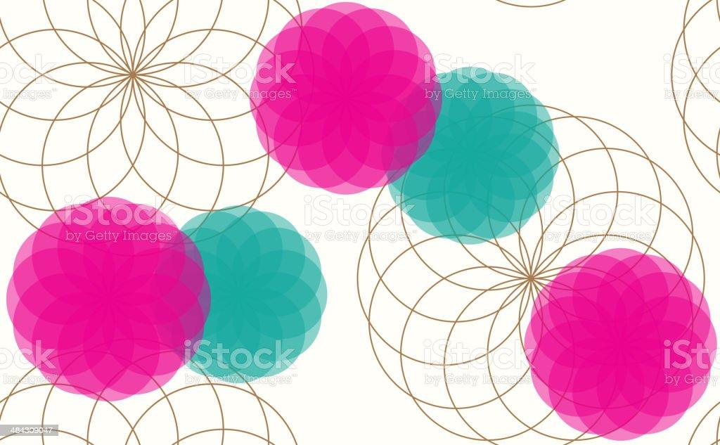 pattern of flowers.向量藝術插圖