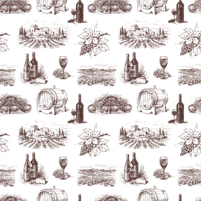 Pattern of grape wine