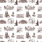 Vector pattern on the theme of wine.