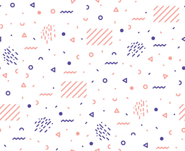 pattern of graphic elements in a hipster style. - материал stock illustrations