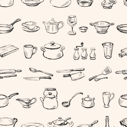pattern of kitchenware