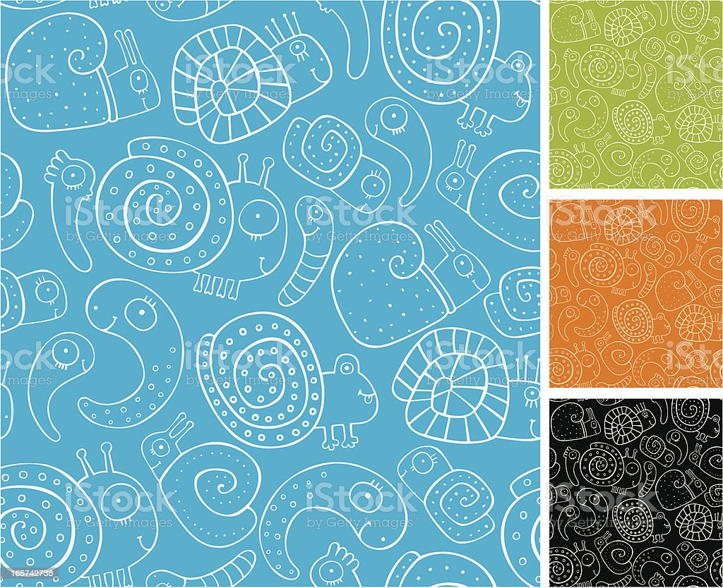 Pattern of snails and shellfishes royalty-free pattern of snails and shellfishes stock vector art & more images of animal