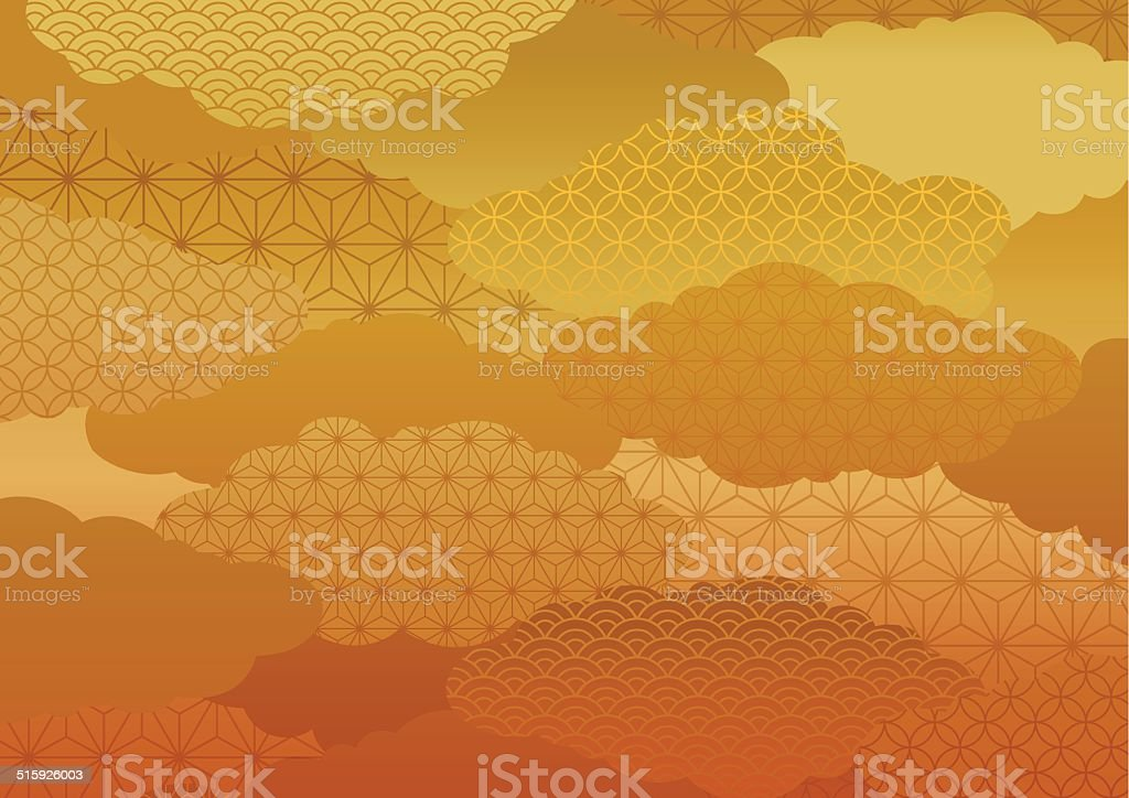 Pattern of the kimono vector art illustration