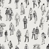 pattern of the pedestrians