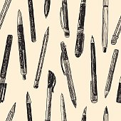 pattern of writing instruments