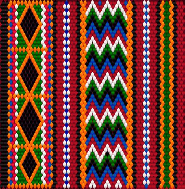 pattern on bedouin fabric sadu2. - oman stock illustrations
