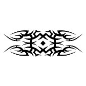 pattern ornament tribal vector isolated element