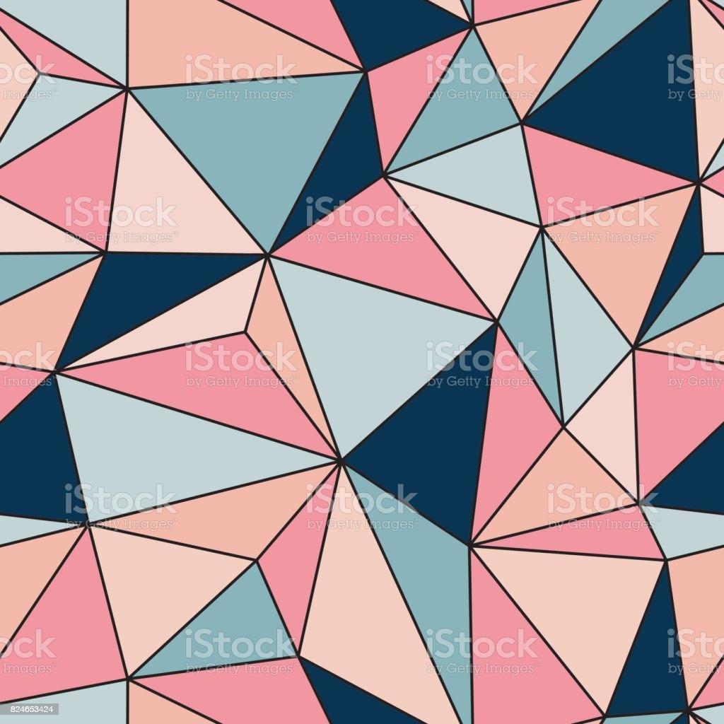 Pattern pastel line purple triangle geometrical of stylized vector art illustration