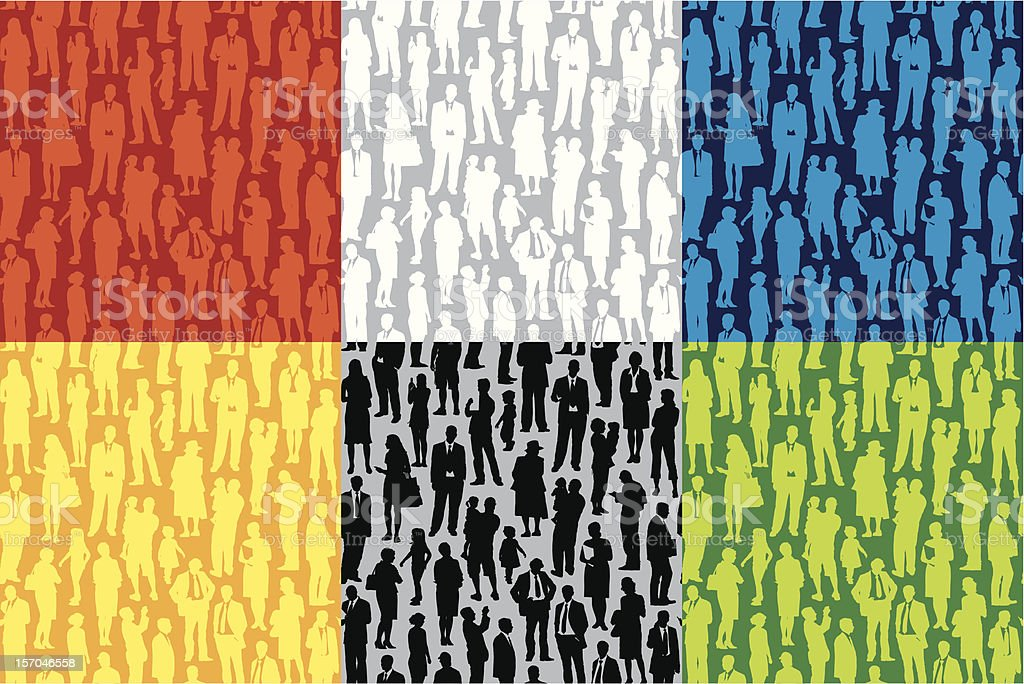 Pattern - people royalty-free stock vector art