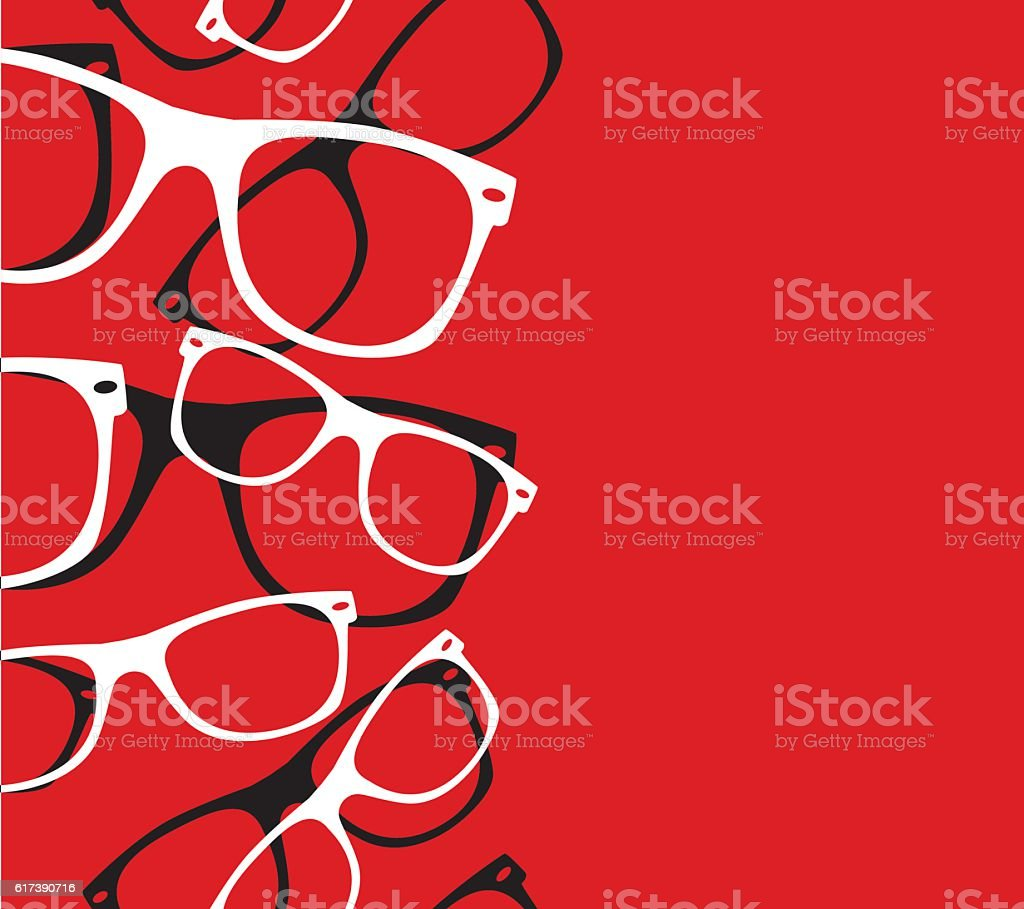 pattern retro hipster sunglasses. vector abstract background vector art illustration