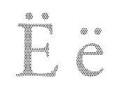 Pattern Russian Cyrillic Alphabet Letter Yo