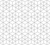 Pattern seamless abstract background black color and white line. Geometric line vector.