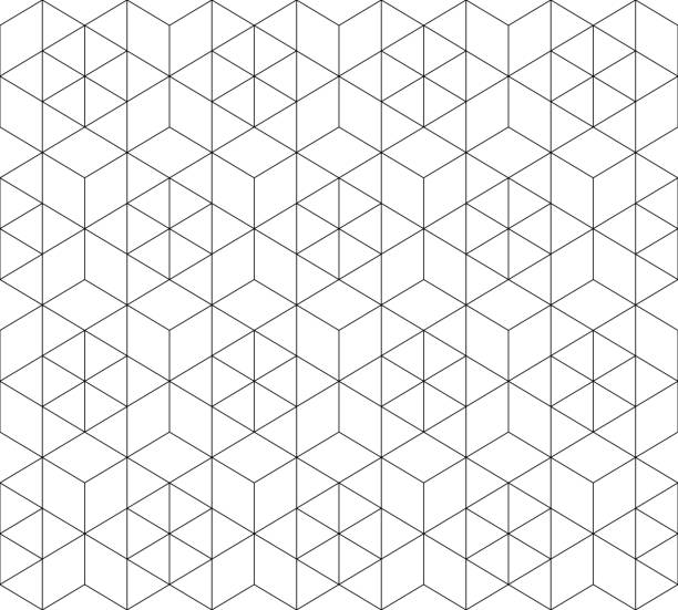 pattern seamless abstract background black color and white line. geometric line vector. - repetition stock illustrations